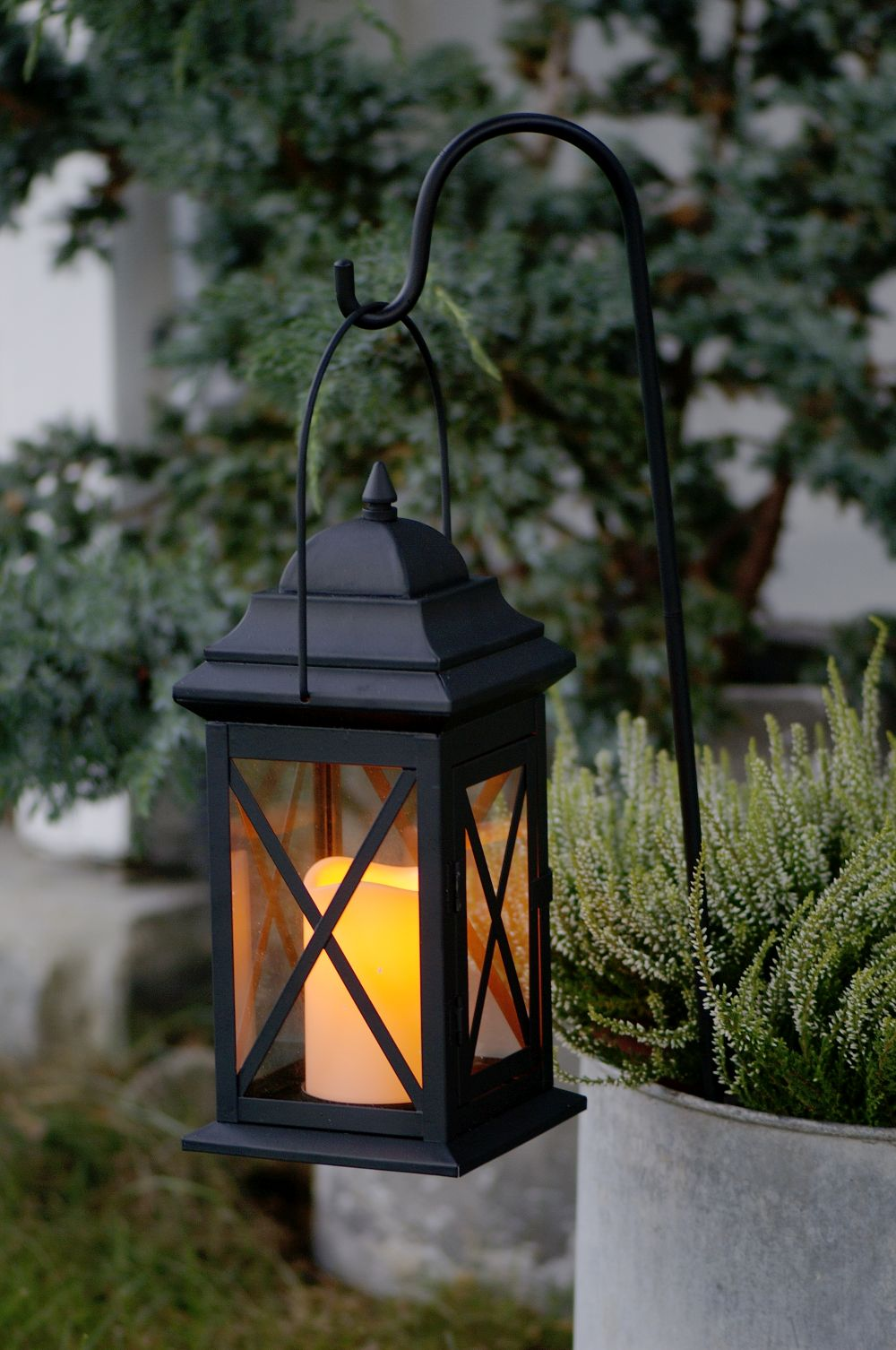 Glimrende Lykt Antial sort utendørs lys uten flamm - Andromeda » Bokkilden XW-83