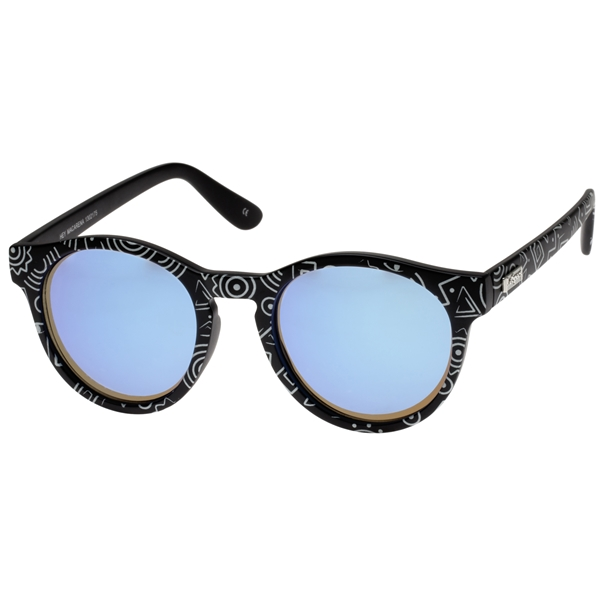 Hey Macarena - Black Scribble / Blue Mirror - Le Specs