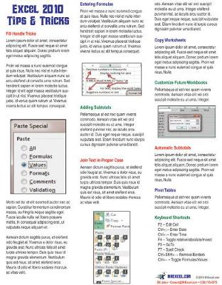 Excel 2010 Laminated Tip Card - Bill Jelen