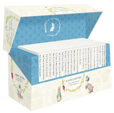 The World of Peter Rabbit - The Complete Collection of Original Tales 1-23 White Jackets - Beatrix Potter