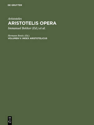 Index Aristotelicus - Hermann Bonitz