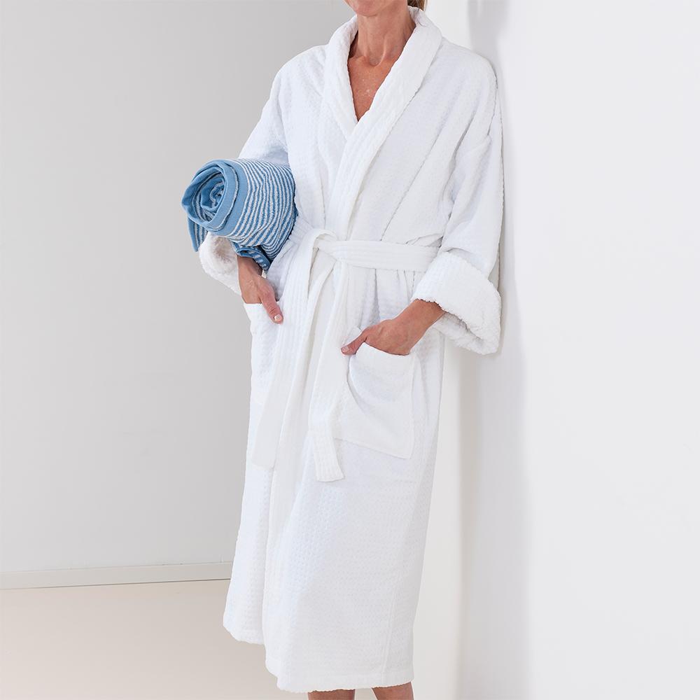 4443e576 Badekåpe Sauna hvit frotte - Pure Bath » Bokkilden
