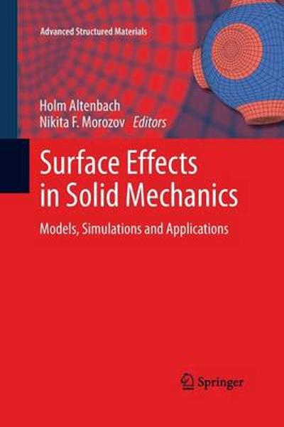 Surface Effects in Solid Mechanics - Holm Altenbach