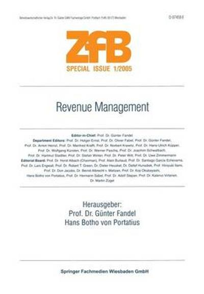Revenue Management - Gunter Fandel