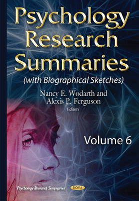Psychology Research Summaries - Nancy E. Wodarth