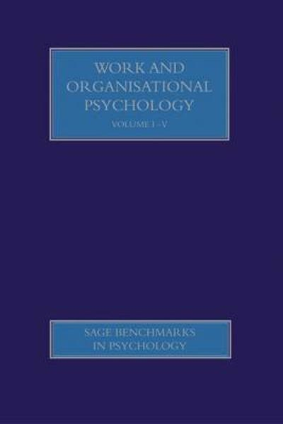 Work and Organisational Psychology - Gregory J. Boyle