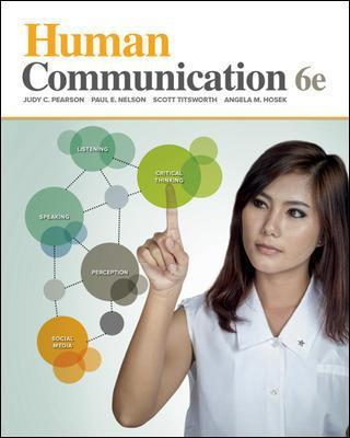 Looseleaf for Human Communication - Judy C. Pearson