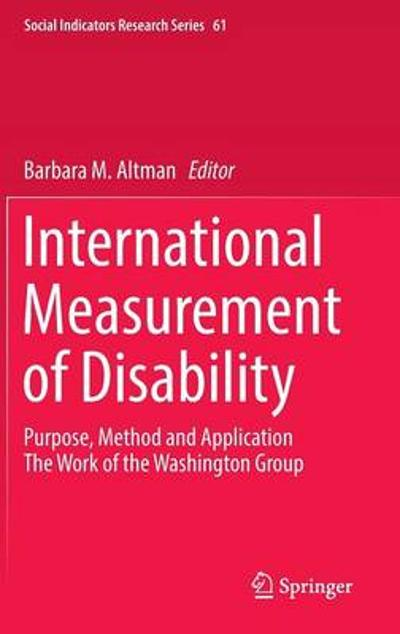 International Measurement of Disability - Barbara Mandell Altman