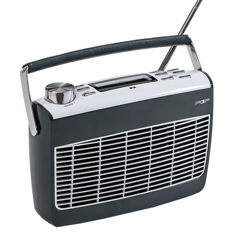 Radio POP retro DAB+ / FM Grå - POP