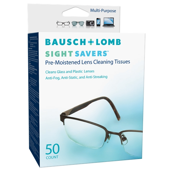 Sight Savers - Lens Cleaning Tissues 50p - Bausch & Lomb