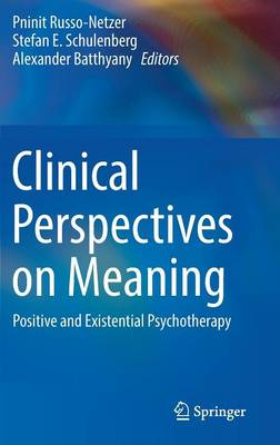 Clinical Perspectives on Meaning - Pninit Russo-Netzer