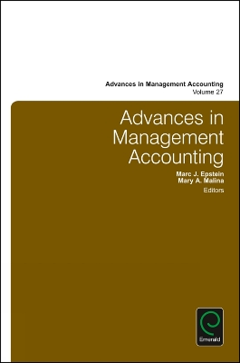 Advances in Management Accounting - Mary M. Malina
