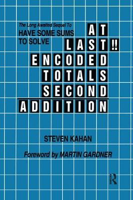 At Last!! Encoded Totals Second Addition - Steven Kahan