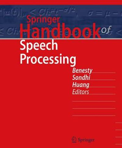 Springer Handbook of Speech Processing - Jacob Benesty