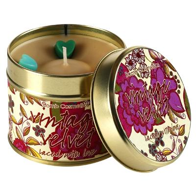 Tin Candle Vintage Velvet - Laced With Love - Bomb Cosmetics