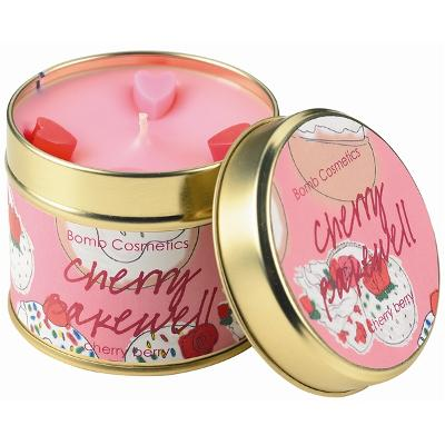 Tin Candle Cherry Bakewell - Cherry Berry - Bomb Cosmetics