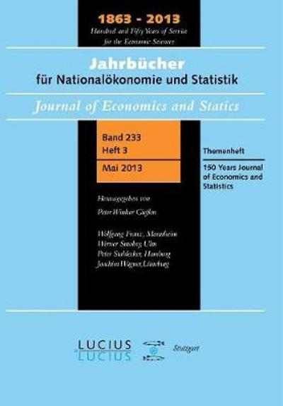 150 Years Journal of Economics and Statistics - Wolfgang Franz