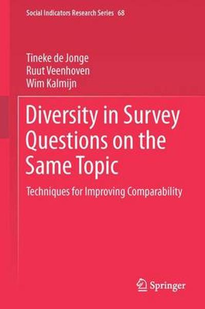 Diversity in Survey Questions on the Same Topic - Tineke De Jonge