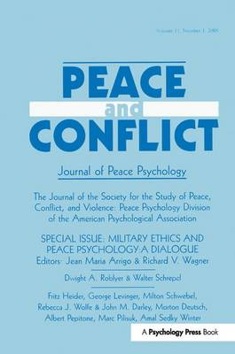 Military Ethics and Peace Psychology - Jean Maria Arrigo
