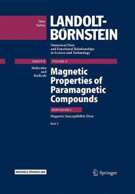 Magnetic Properties of Paramagnetic Compounds - R. T. Pardasani