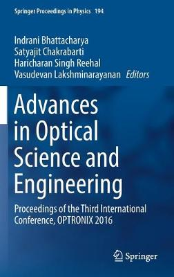 Advances in Optical Science and Engineering - Indrani Bhattacharya