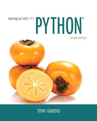 Starting Out with Python - Tony Gaddis