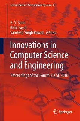Innovations in Computer Science and Engineering - H. S. Saini