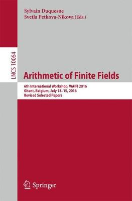 Arithmetic of Finite Fields - Sylvain Duquesne