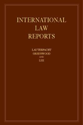 International Law Reports  : Volume 169 - Christopher Greenwood
