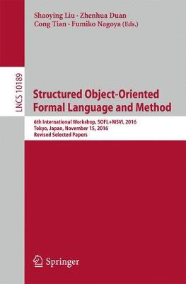Structured Object-Oriented Formal Language and Method - Zhenhua Duan