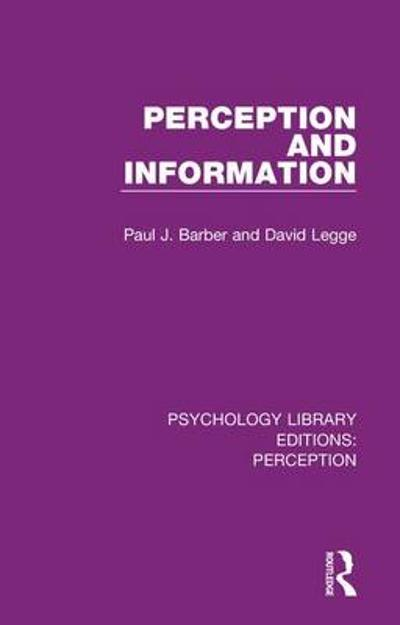 Psychology Library Editions: Perception - Various
