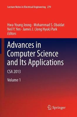 Advances in Computer Science and its Applications - Hwa Young Jeong