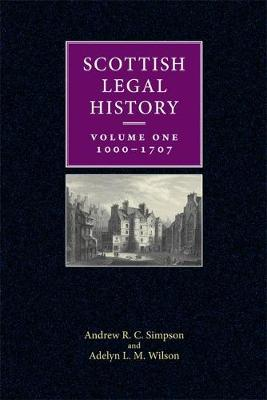 Scottish Legal History - Adelyn L. M. Wilson