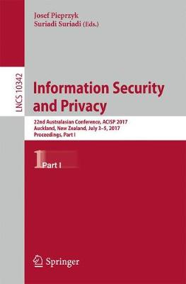Information Security and Privacy - Josef Pieprzyk