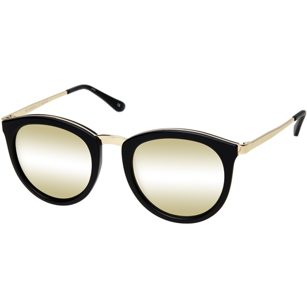 No Smirking - Matte Black / Gold Mirror - Le Specs