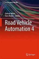Road Vehicle Automation 4 - Gereon Meyer Sven Beiker