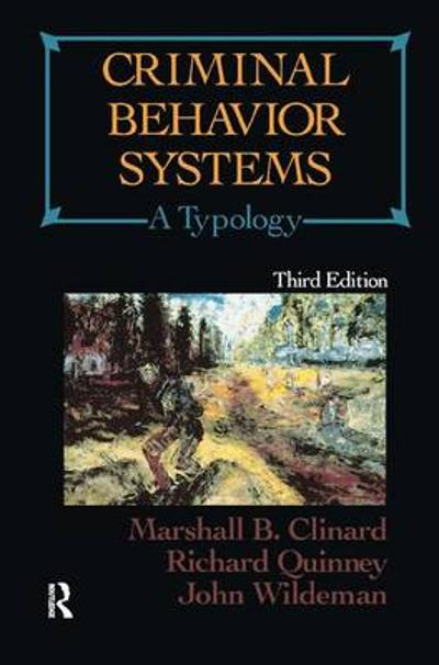 Criminal Behavior Systems - Marshall Clinard