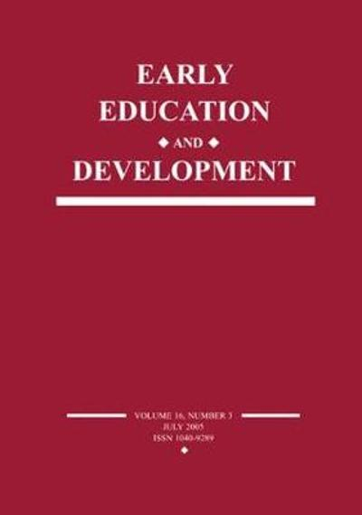 Early Education and Development - Susanne A. Denham