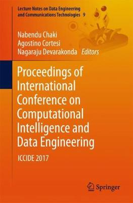 Proceedings of International Conference on Computational Intelligence and Data Engineering - Nabendu Chaki