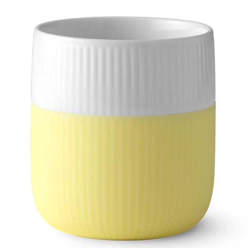 Krus porselen Fluted Contrast 33 cl lemonade - Royal Copenhagen