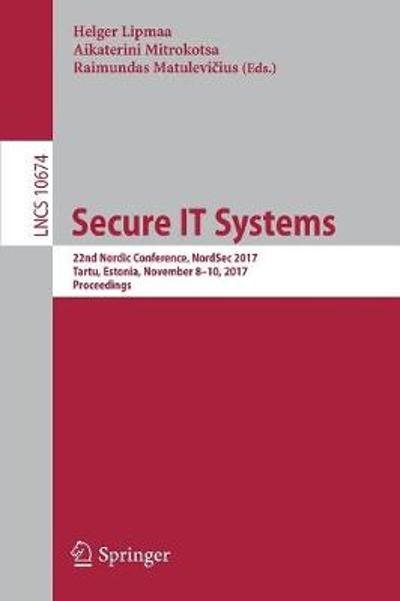 Secure IT Systems - Helger Lipmaa
