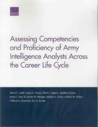 Assessing Competencies and Proficiency of Army Intelligence Analysts Across the Career Life Cycle - Maria C Lytell