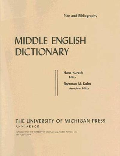 Middle English Dictionary - Robert E. Lewis