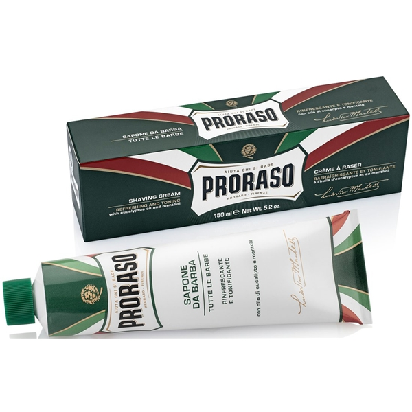 Shaving Cream Refreshing Eucalyptus Tube - Proraso