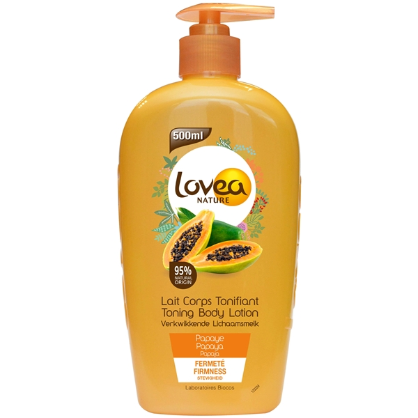 Toning Body Lotion - Papaya - Dry Skin - Lovea