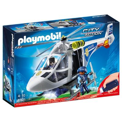 6921 Playmobil Politihelikopter med LED-søkelys - Playmobil