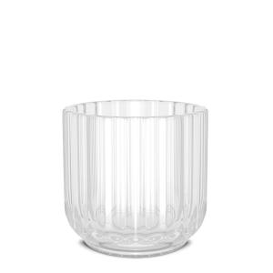 Telysestake glass 6,5 cm klar
