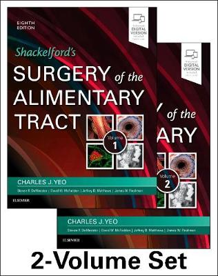 Shackelford's Surgery of the Alimentary Tract, 2 Volume Set - Charles J. Yeo