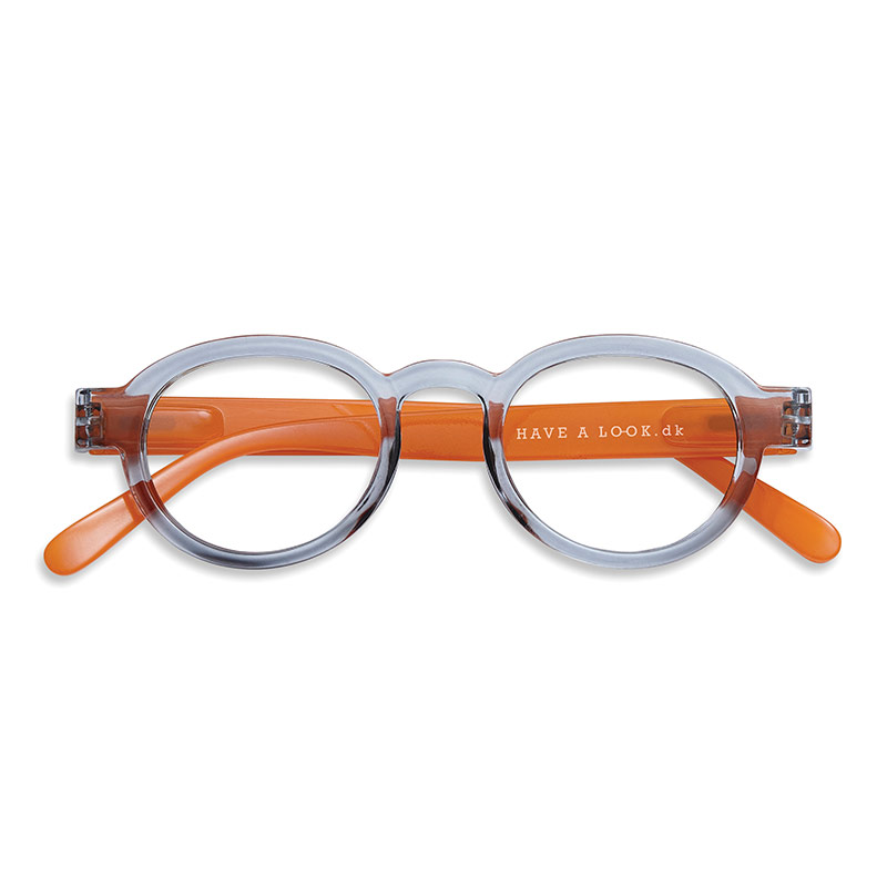 Lesebrille Circle twist grey/orange +2,5 - Have A Look