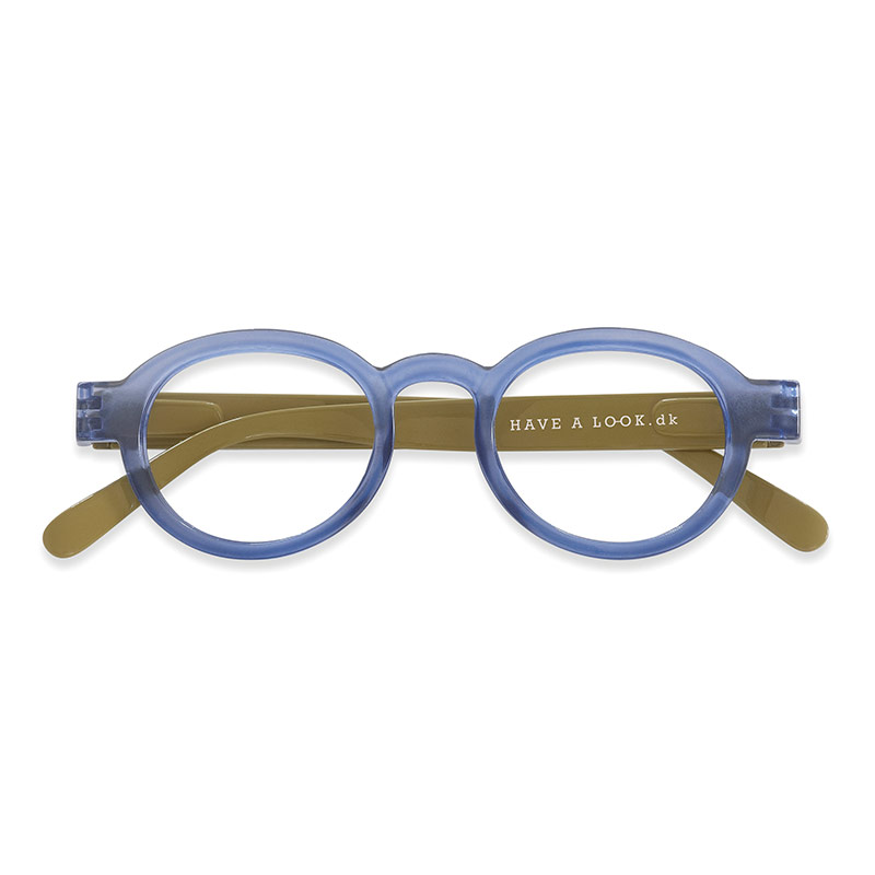 Lesebrille Circle twist blue/lime +3 - Have A Look